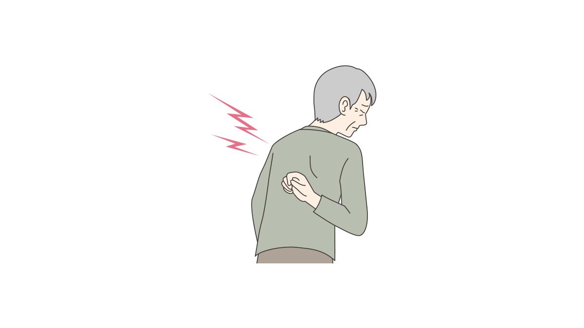 背中 肺がん 症状